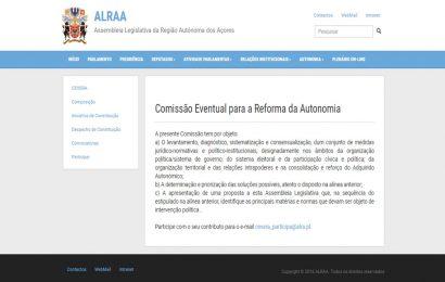 Parlamento disponibiliza plataforma para receber contributos para a reforma da Autonomia